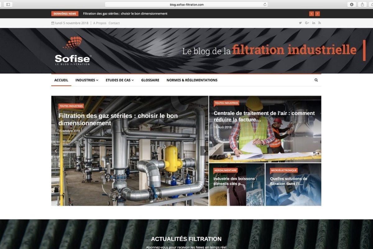 Sofise crée un blog sur la filtration industrielle